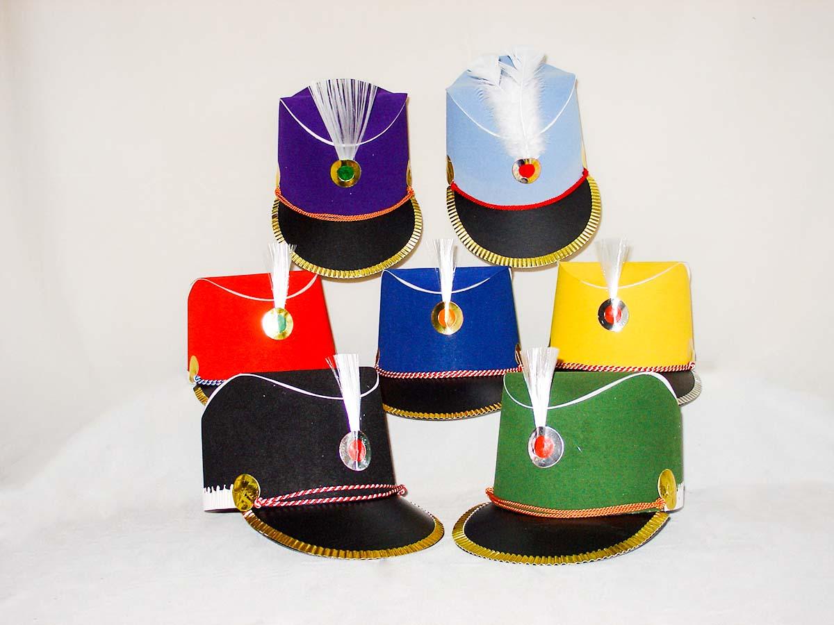 Husarenkappen in verschiedenen Farben